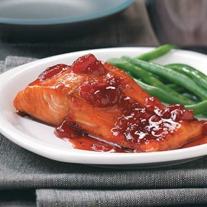 Baked Strawberry Salmon for Two Recipe