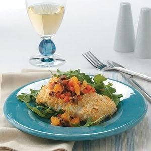 Halibut with Orange Salsa