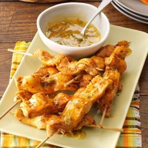 Chicken Skewers with Sweet & Spicy Marmalade