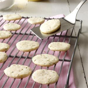 Lemon & Rosemary Shortbread Cookies Recipe