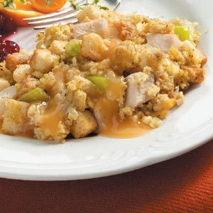 Turkey and Dressing Bake