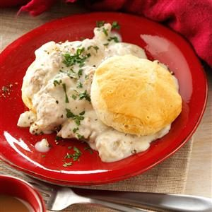 Home-Style Sausage Gravy and Biscuits Recipe