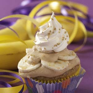 Bananas Foster Surprise Cupcakes Recipe