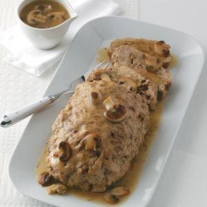 Chicken Loaf with Mushroom Gravy Recipe