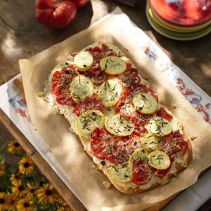 Tomato-Squash Appetizer Pizza Recipe