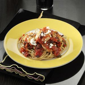 Feta Shrimp with Linguine Recipe