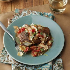 Curried Halibut Skillet Recipe