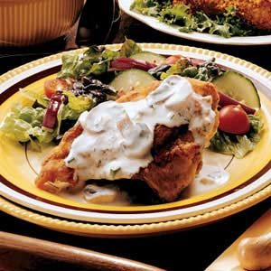 Creamy Pan-Fried Chicken Recipe