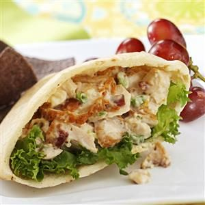 Fried Chicken Pitas Recipe