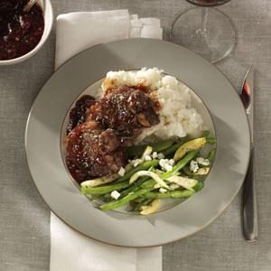 Cherry-Glazed Lamb Chops Recipe