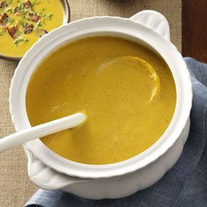 Pumpkin Bisque with Smoked Gouda