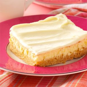 Creamy Lemon Cake Bars Recipe