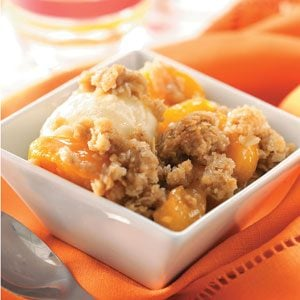 Peach Crisp Recipe photo by Taste of Home
