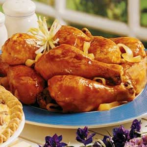 Sweet Smoky Chicken Legs Recipe