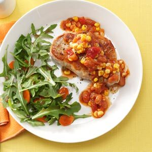 Salsa Skillet Pork Chops Recipe