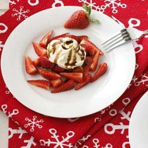 Strawberries with Vanilla Mascarpone and Balsamic Drizzle Recipe