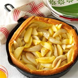 Apple-Pear Puff Pancake Recipe