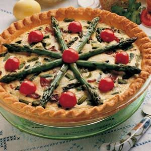 Hearty Asparagus Quiche Recipe
