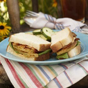 Fried Green Tomato BLTs Recipe