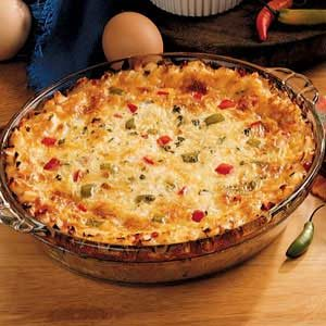 Country Pepper Omelet Pie Recipe