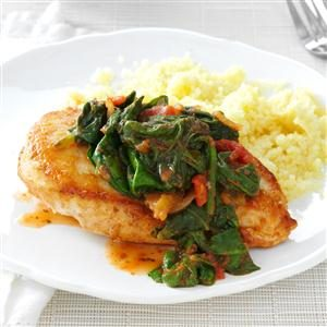 In-a-Pinch Chicken & Spinach Recipe