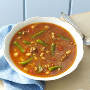 Potato-Beef Barley Soup Recipe