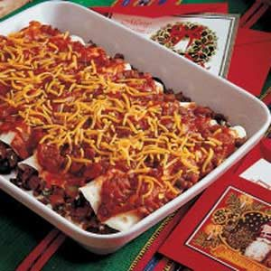 Cheesy Beef Enchiladas Recipe