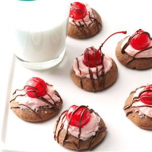 Chocolate-Cherry Thumbprint Cookies