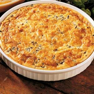 Sausage Wild Rice Quiche Recipe