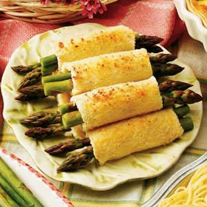 Asparagus Appetizer Roll-ups Recipe