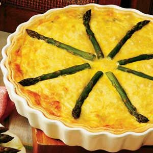 Asparagus Crab Quiche Recipe