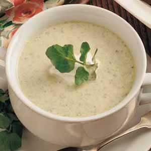 Asparagus Cress Soup Recipe