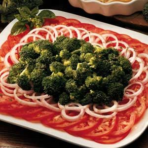 Basil Broccoli/Tomato Platter Recipe