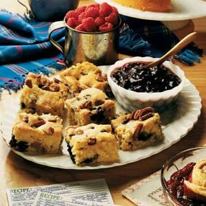 Blueberry-Sausage Breakfast Cake Recipe