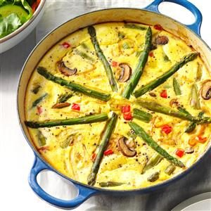 Asparagus-Mushroom Frittata Recipe
