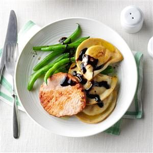Smoked Pork Chops & Pierogies Dinner Recipe
