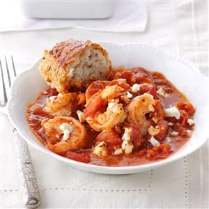 Shrimp & Feta Skillet Recipe