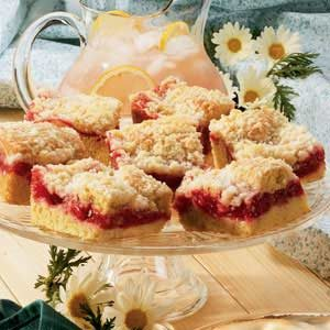 Cherry Rhubarb Coffee Cake Recipe