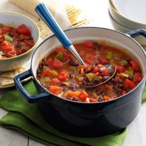 Black Bean-Tomato Chili Recipe