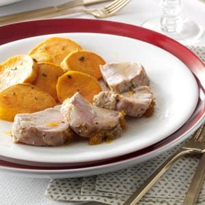 Double-Duty Apricot Pork Tenderloin Recipe