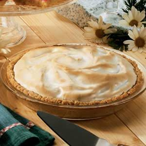 Meringue Rhubarb Pie Recipe