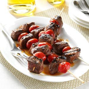 Balsamic-Glazed Beef Skewers Recipe
