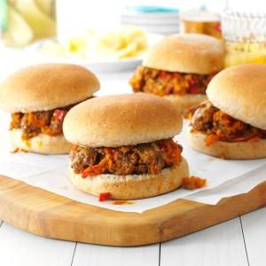 Beef & Veggie Sloppy Joes