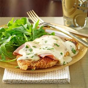 Stacked Chicken Cordon Bleu