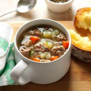 Ground Beef Barley Soup Recipe