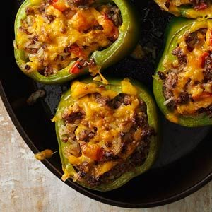Cheesy Stuffed Peppers Recipe
