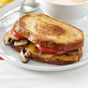 Portobello-Gouda Grilled Sandwiches Recipe