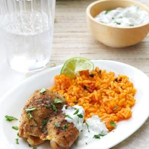 Lime Chicken with Salsa Verde Sour Cream Recipe