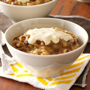 Sticky Toffee Rice Pudding with Caramel Cream Recipe