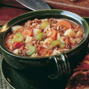 Vegetable Hamburger Soup Recipe